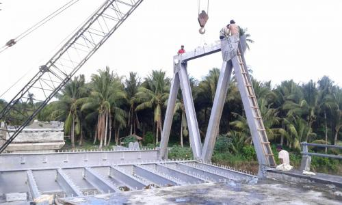 erection jembatan B 60 inuman riau